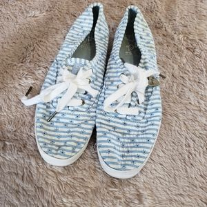 Keds Taylor Swift stripe floral lace up sneakers